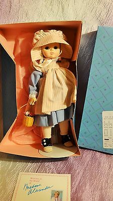 """MADAME ALEXANDER #1586  """"REBECCA"""" DOLL MINT  in ORIGINAL BOX with TAG"""