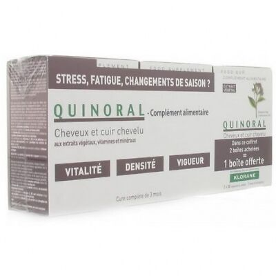 KLORANE Quinoral Anti-chute - Lot de 3 Cheveux - 3 x 60 Capsules