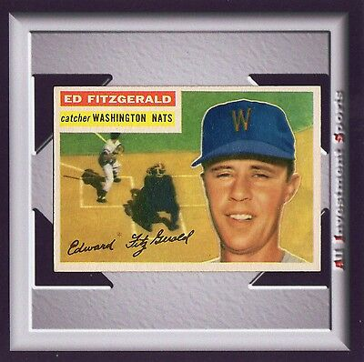 1956 Topps ED FITZGERALD #198 EXMT **amazing baseball card for your set** M88C