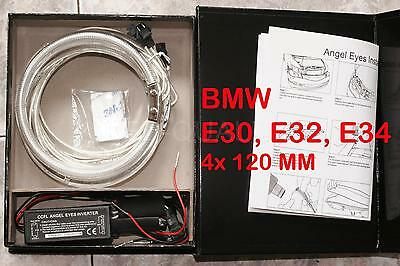 SET ANGEL EYES CCFL 8000K BMW E30 E32 E34 4x 120MM INVERTER OJOS DE ANGE YEUX