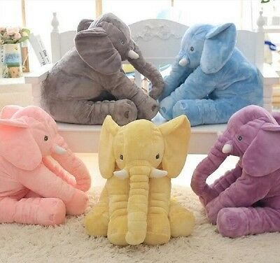 New Elephant Plush Toy Long Nose Lumbar Pillow Soft Stuffed Animal For Baby Kids