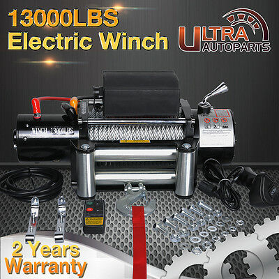 12V 13000lb ELECTRIC WINCH WITH WIRELESS REMOTE TRAILER ATV SUV 4WD BOAT TRUCK