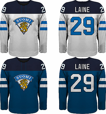 Team Finland Replica Ice Hockey Jersey/Adult+Youth Sizes/Custom Name