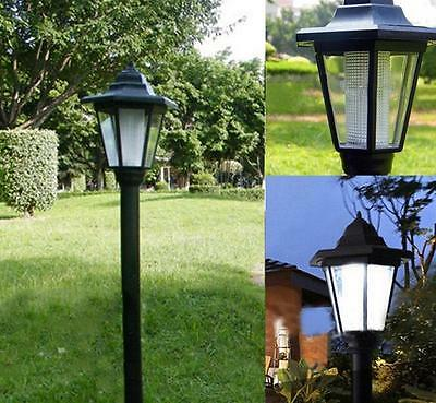 Large Outdoor Solar LED Pathway Wall Landscape Mount Garden Fence Lamp Light