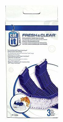 Catit Fresh And Clear Replacement Filters X3 For Cat Drinking Fountain with Bowl