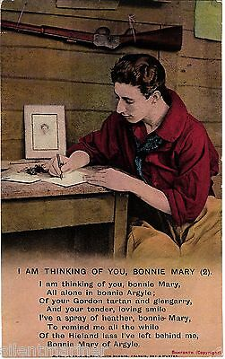 Bamforth song postcard, I Am Thinking of You, Bonnie Mary (2), unposted