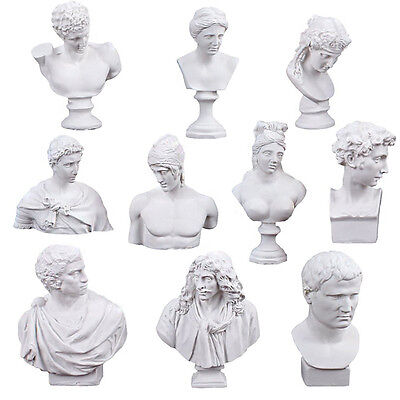 10 PCS Different Resin Sketch Plaster Statue Sculpture Crafts European Style