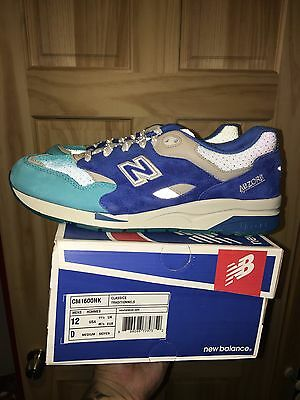 "Nice Kicks X New Balance 1600 Size 12 ""Grand Anse""x d extra Laces BNIB DEADSTOCK"