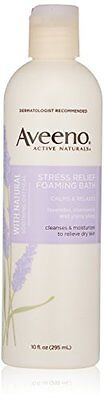 Aveeno Active Naturals Stress Relief Foaming Bath, 10 Ounce