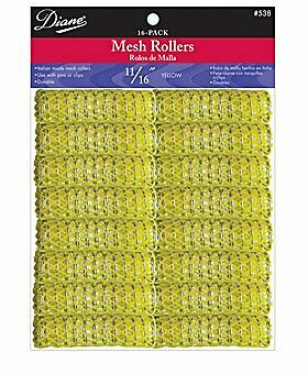 Diane Mesh Roller, Yellow, 11/16 Inch, 16 Count