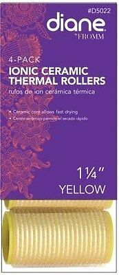 Diane 4 Pack Self Grip Ionic Ceramic Thermal Rollers * Yellow 1-1/4-inch