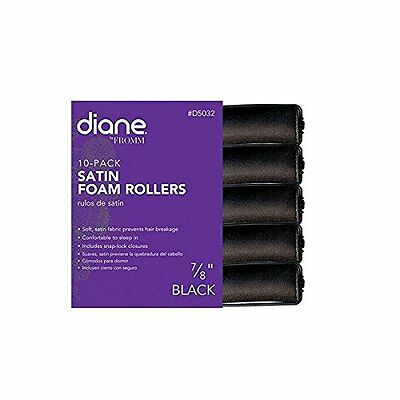 Diane 7/8-Inch Satin pillow Rollers - Black ( D5042)