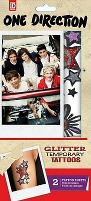 Tempt Tattous One Direction Temporary Glitter Tattoo, 2 Sheets