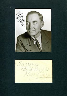 Harry Carey autograph, signed album page mounted