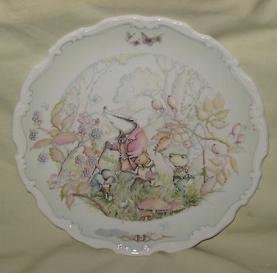 Royal Doulton Wind in the Willows Bone China Plate - Rambling in the Wild Wood