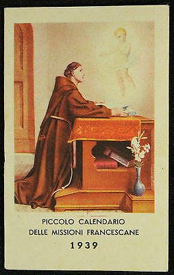 Piccolo calendario delle Missioni Francescane 1939 in China a Changsha - perfect