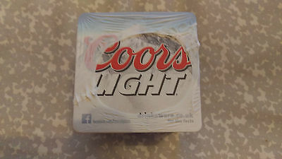 Coors Light Beer Mats Coaster x100 Sealed New - FREE POSTAGE