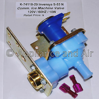 K-74118-29 Invensys S-53 N Water Inlet Valve 120V 60Hz 10W - NEW - SHIPS TODAY