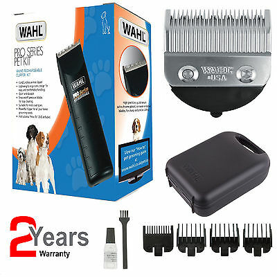 Wahl 9590-804 Cordless Rechargable Home Pet Dog Cat Hair Clipper Grooming Kit