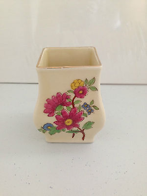 LOVELY RARE c1922 ART DECO ROYAL DOULTON D5407A 7018 MINIATURE FLORAL BUD VASE