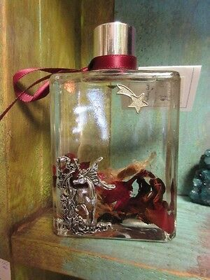 Beautiful new Mythical Unicorn glass *floral oil candle collectible Gift