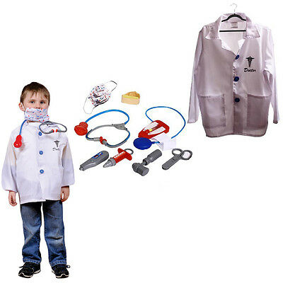 Dazzling Toys Kids Doctor Costume Set Pretend Play Dress-up Accessories Kit