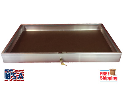 Aluminum Display Case  #1150 Side Opening  22 x 34 x 3 1/4 with Keyed Lock