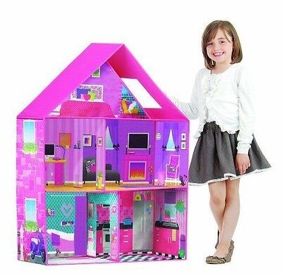 Barbie Doll House Pink Dream Home Play Room Set Bedroom Furniture Accessories