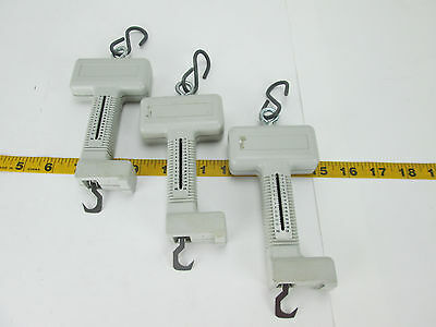 Lot of 3 Spring Scales 28 Lbs/12 Kgs Gray Hand Held Lab Science School T