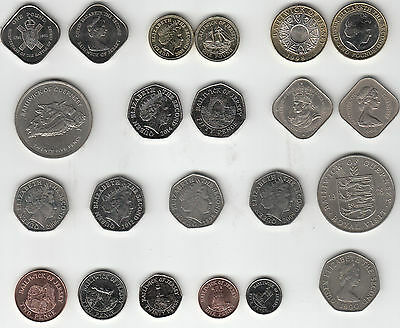 Jersey Guernsey coins 50p to £2 1966-2016 issues multi-listing