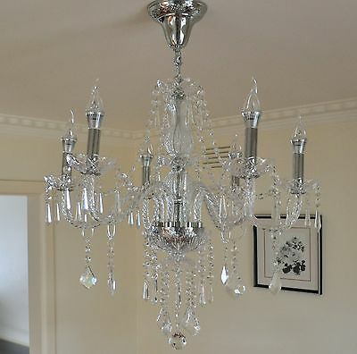 Smart Home Modern Clarins 6 Arms Crystal Chandelier Light