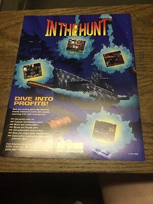 Irem INTO THE HUNT Arcade Video Game flyer- original