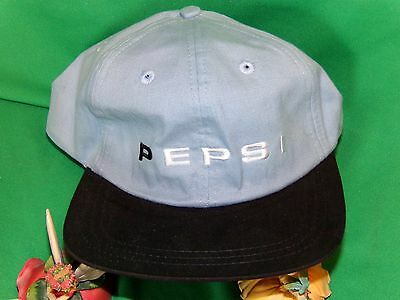Pepsi Cola Hat embroidered Baseball Cap Rare Corporate Hat Blue and white