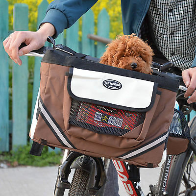 Pet Gear Dog Cat Bicycle Bike Seat Front Basket Carrier Box Outdoor Puppy Travel