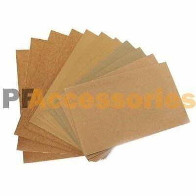 "12 Sheets Assorted Grits Sandpaper Sanding Paper 9 x 11"" inch LOT for Wood Paint"