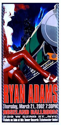 Ryan Adams Poster 2002 Concert Signed and Numbered Limited Edition