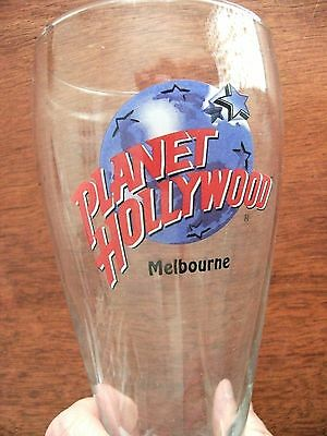 Planet Hollywood MELBOURNE beer glass VGUC x2 pair restaurant souvenir LOOPY