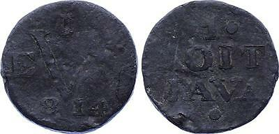 COIN Netherlands East Indies Java Duit 1814 KM# 244