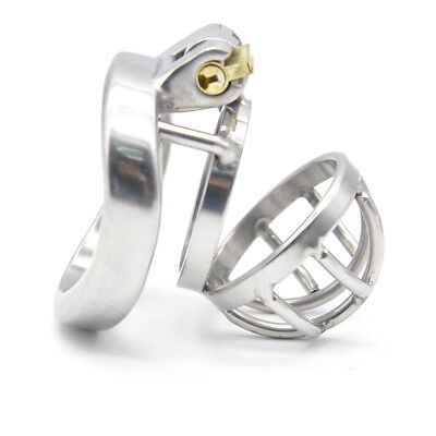 2Stainless Steel Super Small Male Chastity Device  Metal Chastity Cage CD099-1
