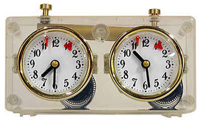 Chess, Mechanical Chess clock in Plastic housing, Transparent