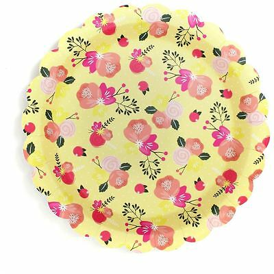 Hobbycraft Floral Paper Plates 8 Pack Party Birthday Catering Tableware