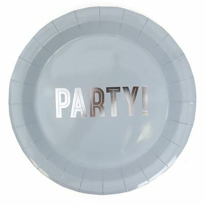 Hobbycraft Blue and Silver Paper Plates 8 Pack Party Birthday Catering Tableware