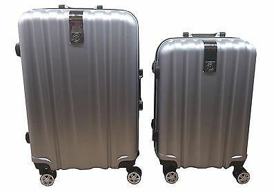 Hard Shell 4 Wheel Spinner Suitcase ABS PC Aluminium Luggage Trolley Case Cabin
