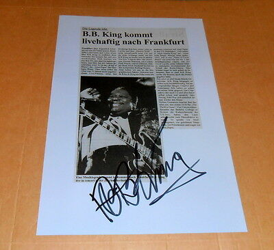 B.B. King *+ 2015 Blues, Lucille* original signed Photo in 20x30 cm (8x12), RAR