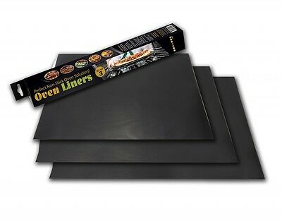 BLACK TEFLON Non Stick Oven STAY CLEAN CookerBASE Liner Liners -Buy 1 Get 2 FREE