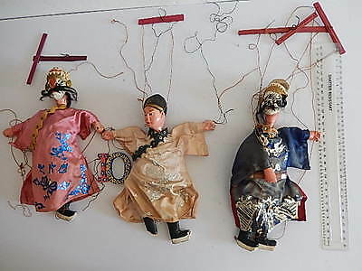 Small handmade folk-tale marionettes/puppets from Burma / Myanmar