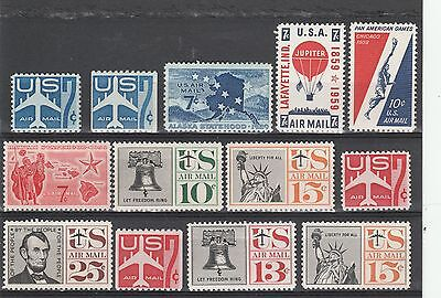USA Scott #  C 51 to C63 airmail MNH set of 13 stamps (c51-63)
