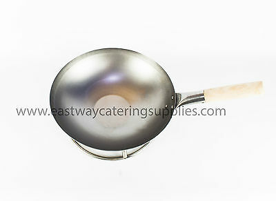 Commercial Quality Oriental Carbon Steel Wok Flat / Round Bottom + Accessories