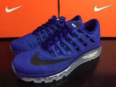 Nike Air Max 2016 GS Unisex Trainers Running Shoes UK 4 5 Blue Black 807236 401