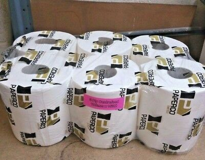 18 x White 3 Ply Centrefeed Rolls 150M x 190mm Hand Towels Kitchen no 2 Ply